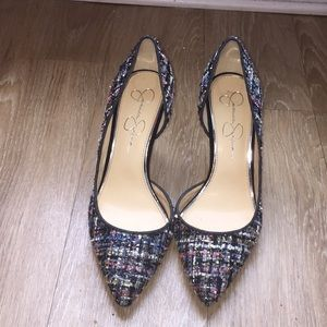 Tweed Jessica Simpson pumps